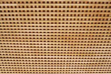 texture of wooden lath