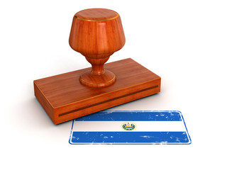 Rubber Stamp Salvadoran flag (clipping path included)