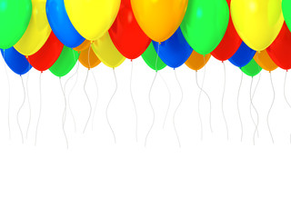 Multicolored baloons