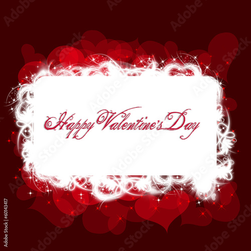 Valentine's Day Red Greeting Card