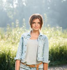 beautiful teenage girl outdoors