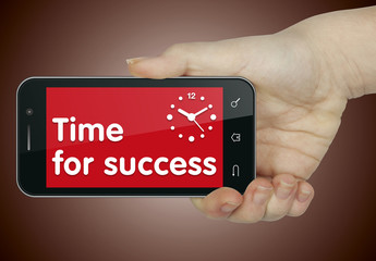 Time for success. Phone