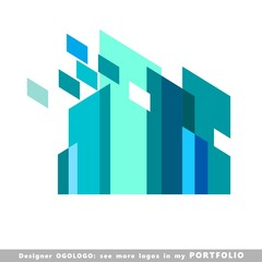 logo, business, buildings, illustrations, sign, vector