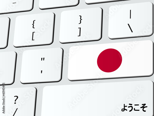 Welcome to Japan computer icon keyboard