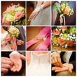 collage of wedding pictures