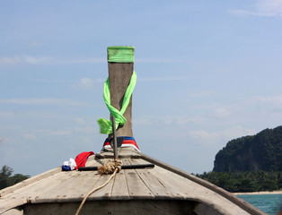 Нос Деревянной Лодки в Таиланде.