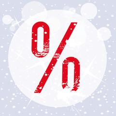 Prozentzeichen Schlussverkauf, dekorativ