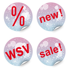 Dekorative Sticker / Button für Verkaufsaktionen