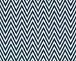 Thin Navy Blue and White Horizontal Chevron Striped Textured Fab