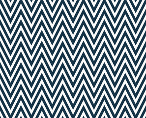 Thin Navy Blue and White Horizontal Chevron Striped Textured Fab
