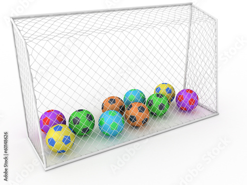 White football goal on a white background #10