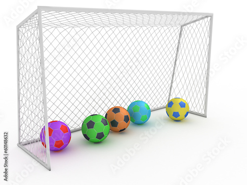 White football goal on a white background #8