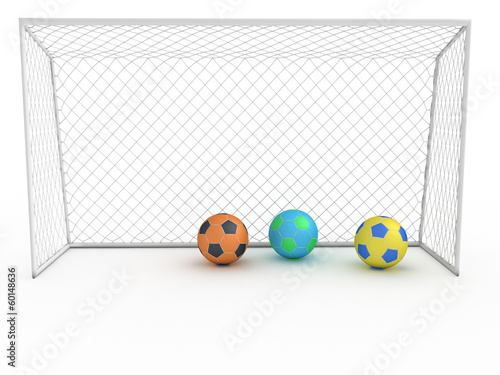 White football goal on a white background #6