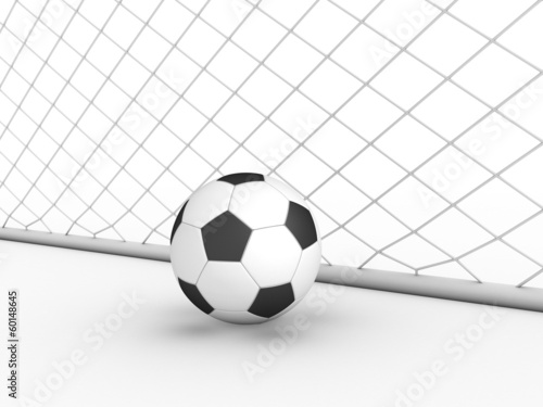 White football goal on a white background #2