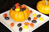 Pumpkin filled with Halloween Jellybeans