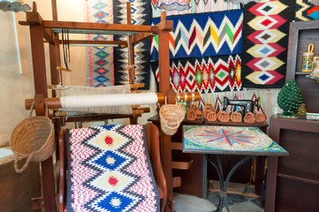 traditional carpet laboratory in Erice, Sicily, Italy