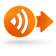 ondes sur symbole web orange