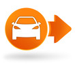 voiture sur symbole web orange
