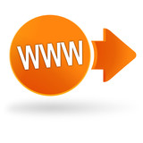 site web sur symbole web orange