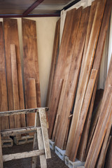 Wood Planks Drying