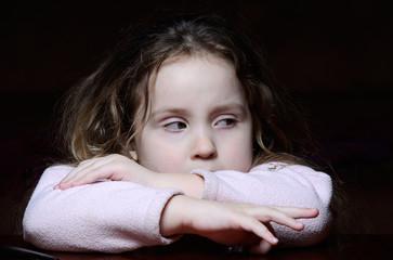 Little girl on table