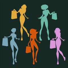 Set de mujeres de compras