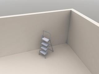 ladder in the corner