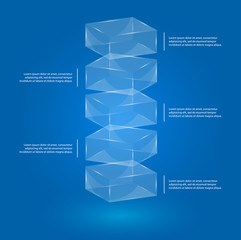 Glass boxes infographic
