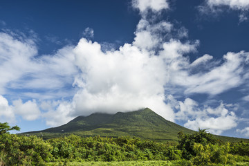Nevis Peak, A Volcano in the Caribbean