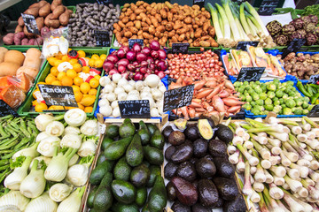 Fresh Vegetables at Vienna Naschmarkt market