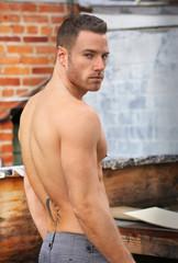 Muscular hot guy