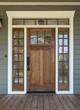 Exterior shot of a Wooden Front Door