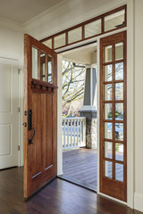 nterior shot of Wooden Front Door