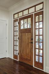 nterior shot of Wooden Front Door