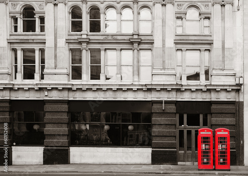 Red telephone booth - 60152608