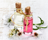 Bottles of Spa essential oils for aromatherapy