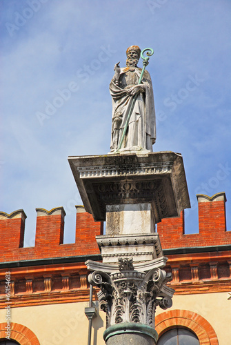 Italy, Ravenna, The Saint Apollinare statue in People square.