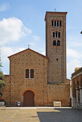 Italy  Ravenna  Saint Francis Basilica with the bell tower.
