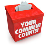Your Comment Counts Suggestion Feedback Opinion Box
