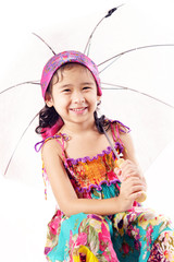 gypsy girl with umbrella