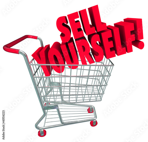 Sell Yourself Shopping Cart Market Your Abilities Skills