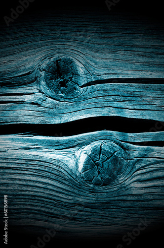 Dark Knotted Wood Planks Close-Up