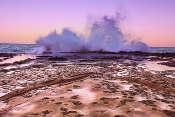 South Avoca - Ocean Splash at dusk