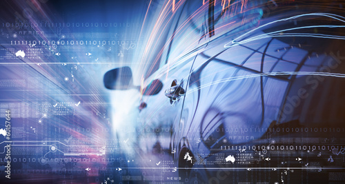 Leinwanddruck Bild Rear view of luxury car