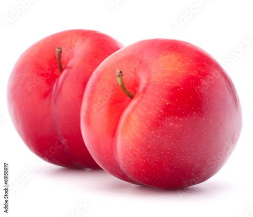 Sweet plum isolated on white background cutout