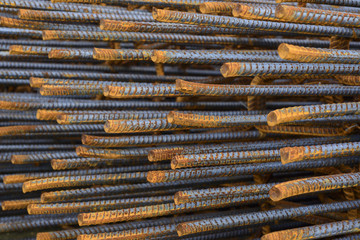 Rust steel rod,