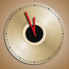 Record recycled into clock