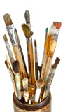 used artistic paintbrushes