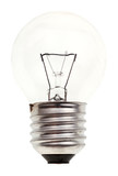 small transparent incandescent light bulb