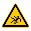 canvas print picture - symbol for slippery when wet german rutschgefahr g422